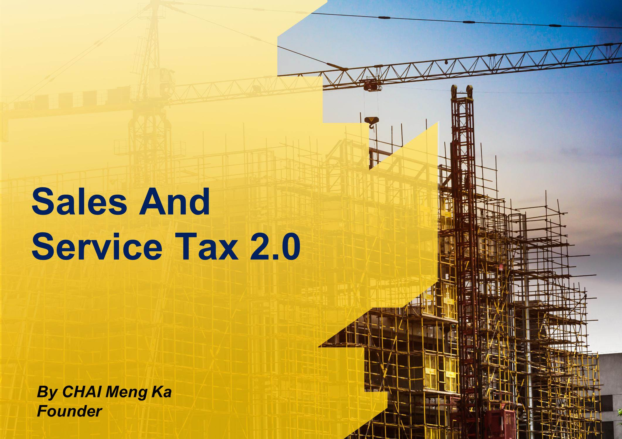 Sales And Service Tax 2.0